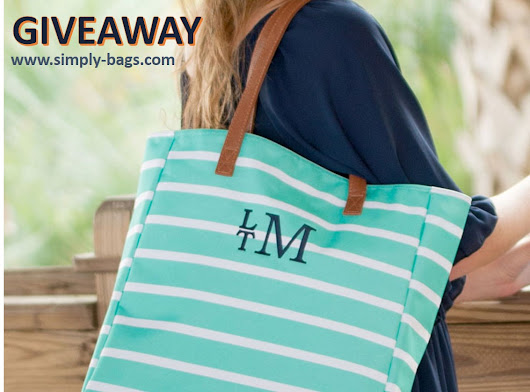 GIVEAWAY - Striped Open Tote