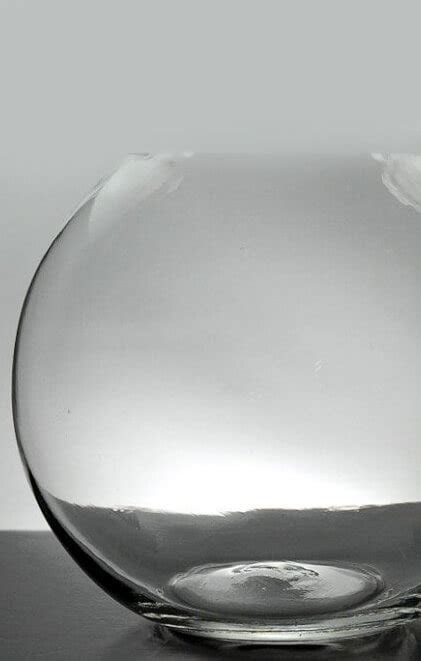 Clear Glass Bubble Ball Round Vases 8in Set of 4