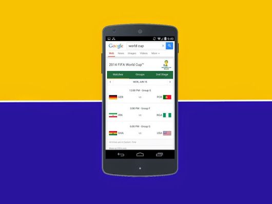 Google Search Is Ready For The World Cup With The Scoop On Match Schedules, Scores, Rosters, And More