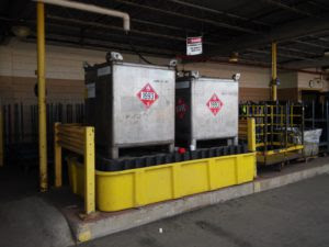 Tanks for flammable waste solvent storage