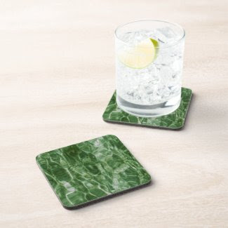 Green Water Beverage Coasters