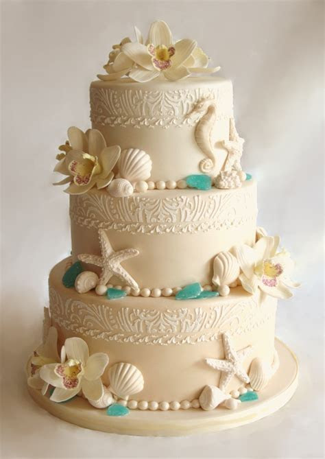 beach wedding cake.   Cake Decorating Community   Cakes We