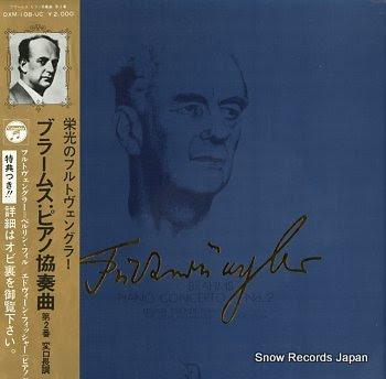 FURTWANGLER, WILHELM brahms; piano concerto no.2
