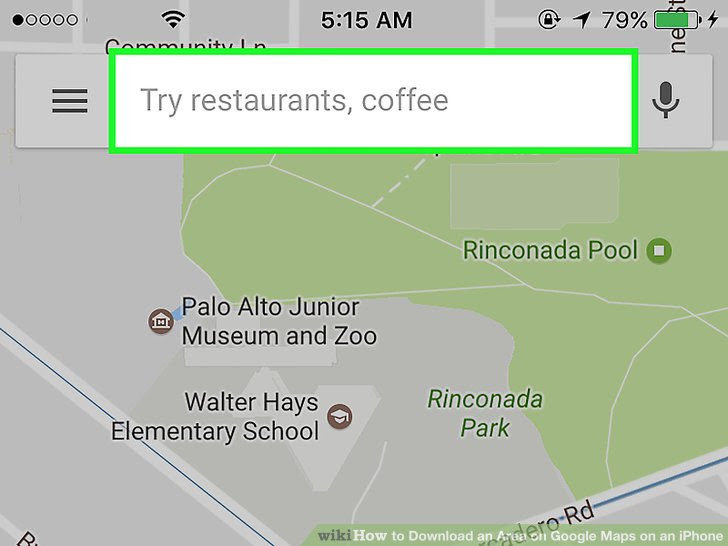 How To Download An Area On Google Maps On An Iphone 8 Steps