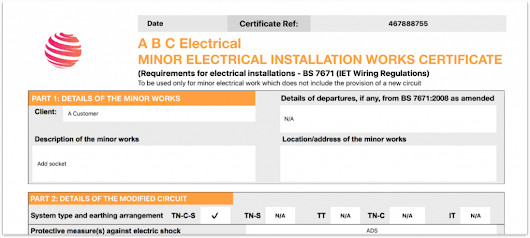 Add Company and Scheme Logos To Electrical Certificate - iCertifi