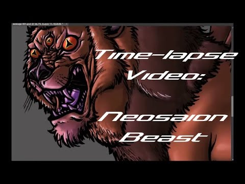 Time-lapse Digital Coloring Video: Neosaion Beast