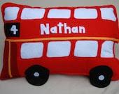 bus cushion personalised