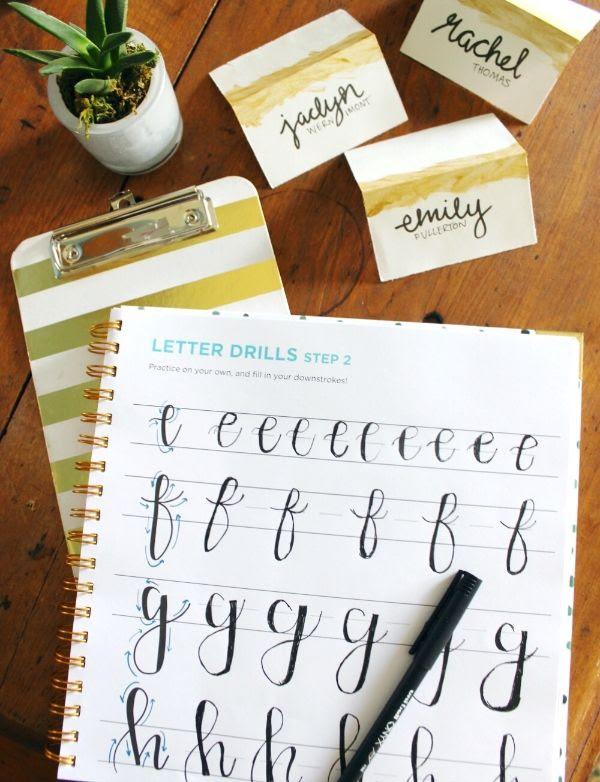 Handlettering practice, a beautiful art for creative entrepreneurs