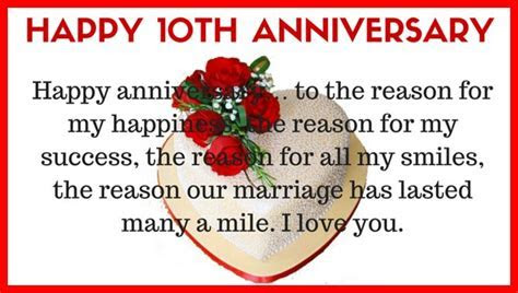 10th wedding anniversary quotes for husband from wife