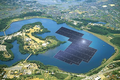 Floating solar farms.