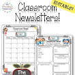 75% off! Editable Classroom Newsletters for the Whole Year!! (Monthly & Weekly)