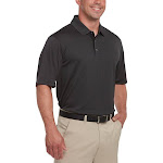 Bollé Bolle Men's Short Sleeve Performance Polo, Black, XX-Large
