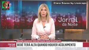 Clara Sousa sensual na Sic