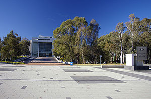 English: Entrance of the High Court of Austral...