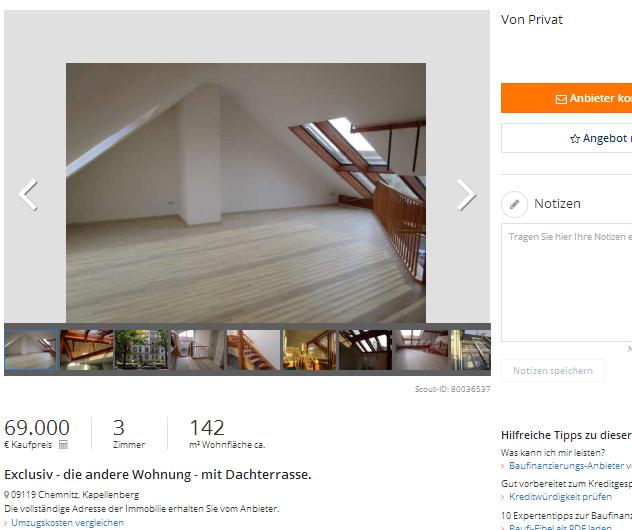 Wohnung Chemnitz Kapellenberg