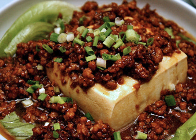 Tofu with minced pork