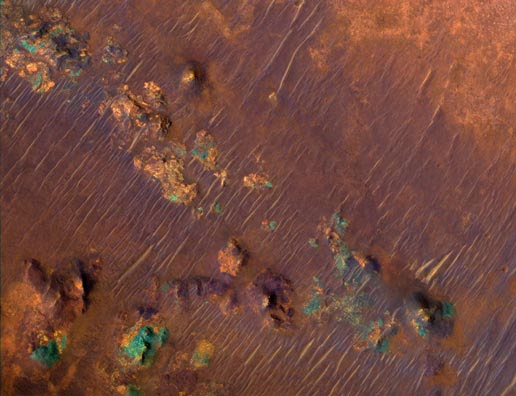 Color Image of Nili Fossae Trough