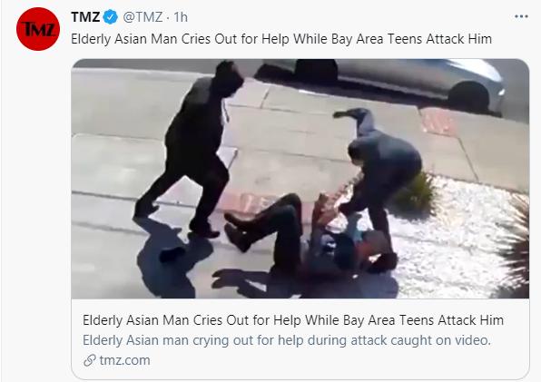 Kỳ thị chủng tộc ở Mỹ: Một cụ già 80 tuổi bị tấn công trước sự vô cảm của những người xung quanh