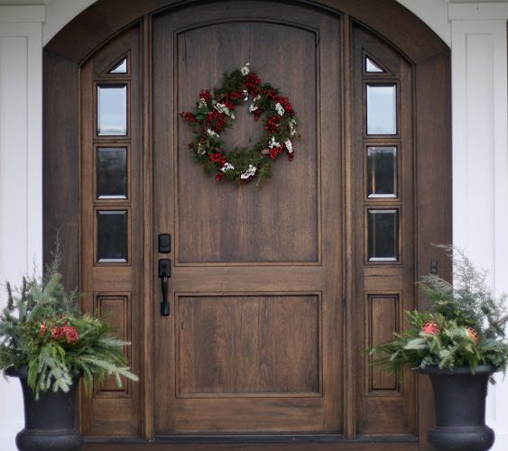 Amazing solid wood front door design decor ideas 563x500
