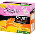 Playtex Sport Fresh Balance Plastic Tampons Lightly Scented Regular/Super - 32 count