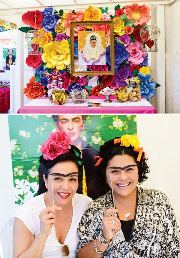 Vibrant Festive Frida Kahlo Inspired Mexican Party Hostess With