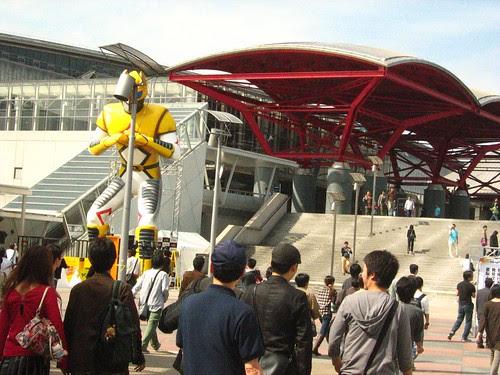 Large statue outside Makuhari Messe