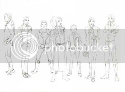Bleistift Vorzeichnung comic männer elegant