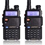 Ktaxon 2 Piece Baofeng UV-5R 400~480MHz Handheld DCS 128CH Two-way Ham Radio Interphone