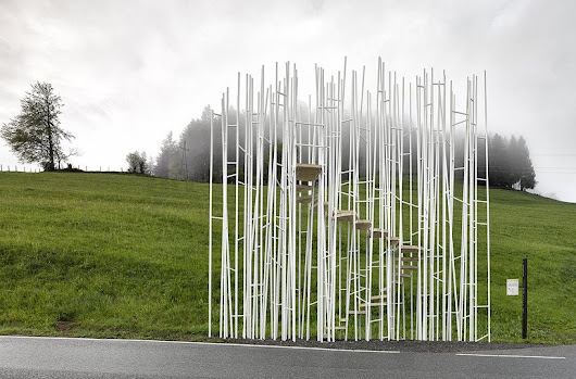 sou fujimoto among architects for bus stop designs in krumbach, austria - designboom | architecture & design magazine