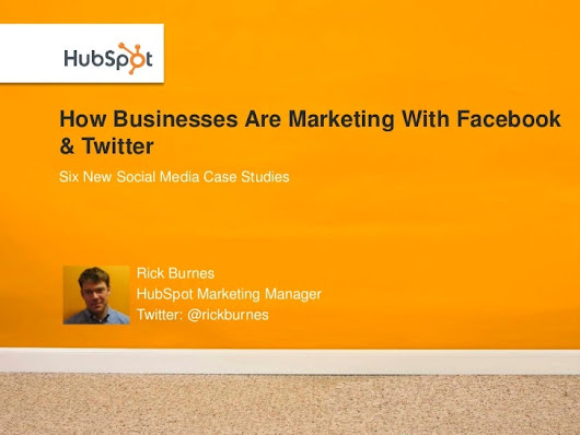 How Businesses Are Marketing with Facebook & Twitter