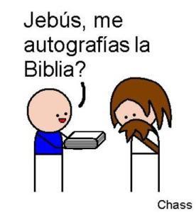 jesus biblia autografo