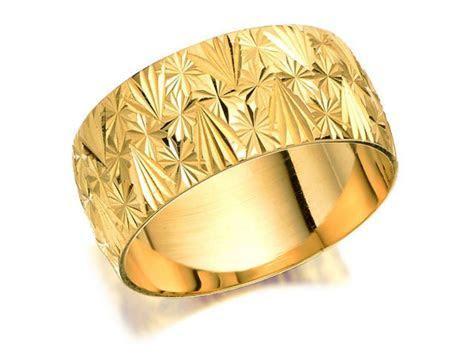 F.Hinds Womens Jewellery 9ct Gold Diamond Cut Brides