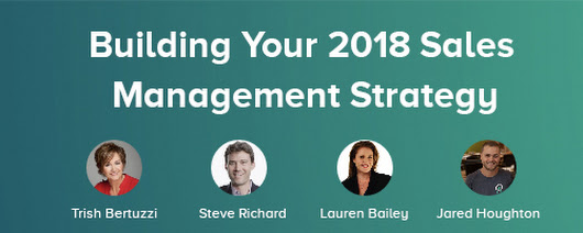 Welcome! You are invited to join a webinar: December Webinar: Building Your 2018 Sales Management Strategy. After registering, you will receive a confirmation email about joining the event.