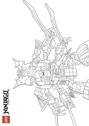 Mewarna10: Kleurplaten Ninjago Seizoen 8