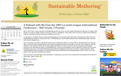 Sustainable Mothering