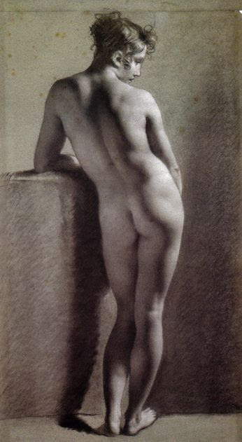 Pierre-Paul Prud'hon – Standing Female Nude Seen From The Back
