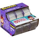"3M Scotch GiftWrap Transparent Tape, 0.75"" x 300"" - 3 pack"
