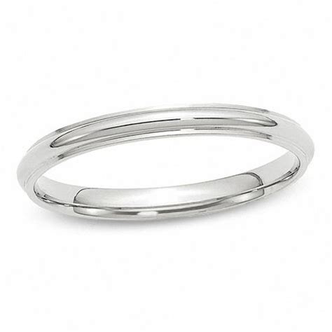 Ladies' 2.5mm Wedding Band in 14K White Gold   Wedding