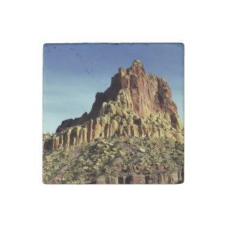 Rock Mountain Summit Stone Magnet