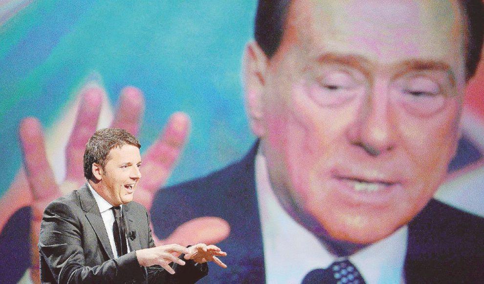 Alleati –  Matteo Renzi, Silvio Berlusconi e Luigi Di Maio, uniti dal sistema  elettorale  tedesco  –  Ansa/LaPresse
