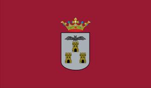 {{es|Bandera de la ciudad de Albacete, en Alba...