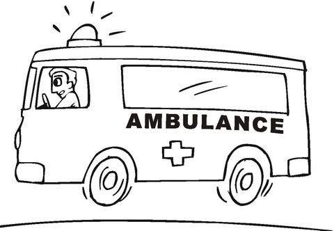 Coloriage Ambulance Coloriages à Imprimer Gratuits