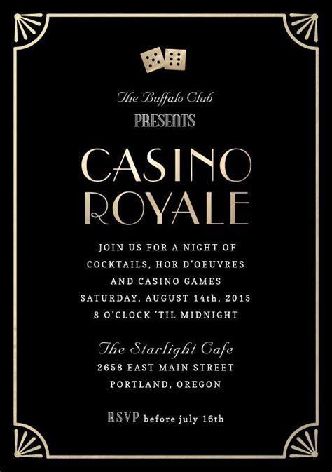 """Casino Royale"" Invitation by Kristy Kapturowski"