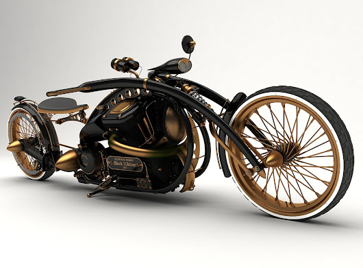 Image: The Black Widow: A Stunning Steampunk Concept Motorcycyle By ...