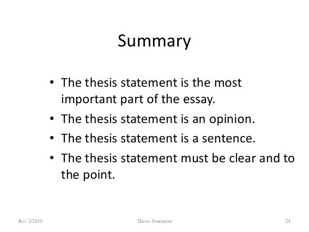 how to write a thesis statement for a summary response essay