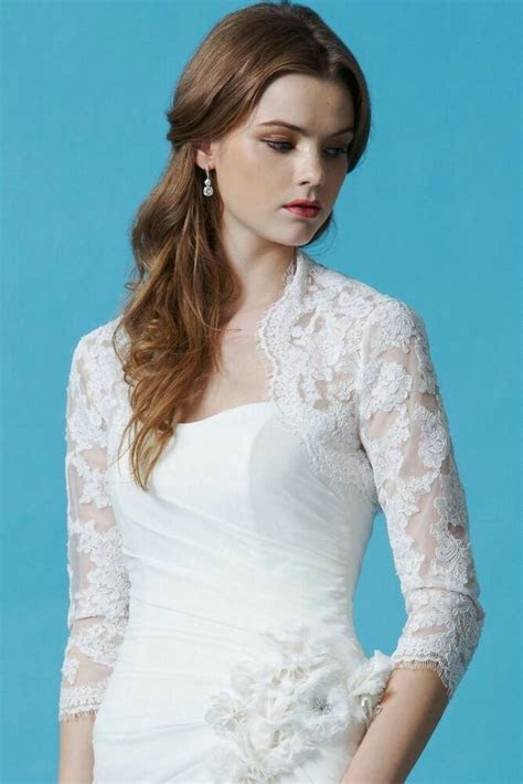 White/ivory Lace Bolero/ long sleeved / Bridal Jackets