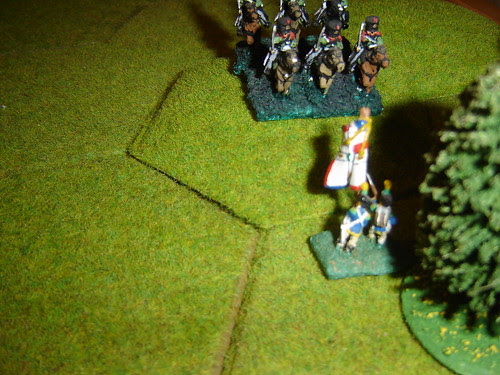 Brave French infantry stand their ground