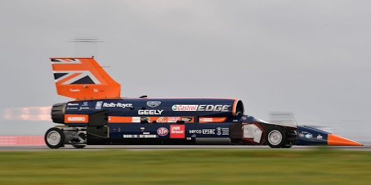 Watch the Bloodhound SSC 1000-MPH Land Speed Car's First Test Run Right Here