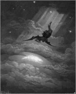 "Painting of John Milton's ""Paradise Lost"" 1866 by Gustave Doré [Public domain], via Wikimedia Commons"