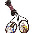Amazon.com: Catholic Wear Wooden Brown Large Oval Scapular Necklace. Pack of 6. Made in Brazil.: Necklaces: Jewelry